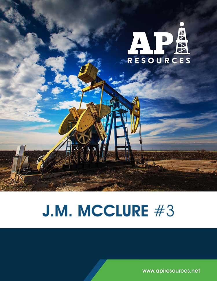 API Resources - JM McClure #3 Oil Prospect
